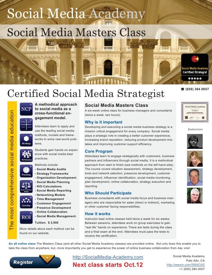 Social Media Academy Social Media Masters Class                                                                           ...