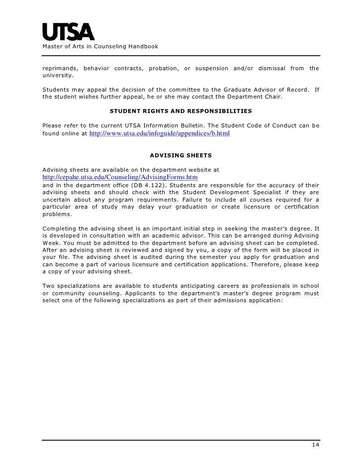 Academic Probation Letter Of Appeal Sample