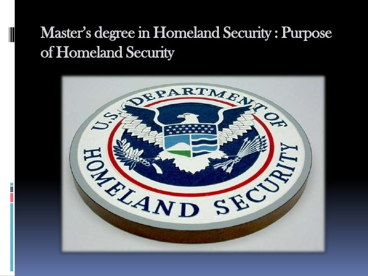 Homeland Security Degree >> Master S Degree In Homeland Security