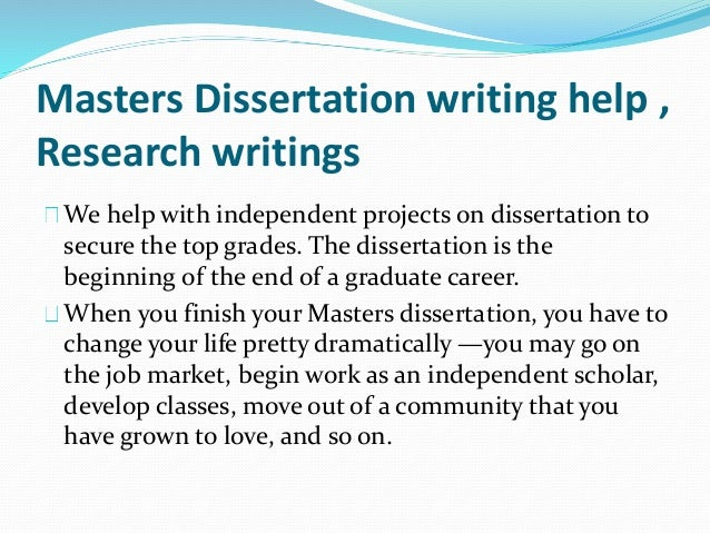 Master's Thesis Writing Service, Get Help Online