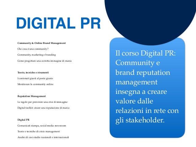 Community & Online Brand Management Che cosa è una community? Community, marketing e branding Come progettare una corretta...