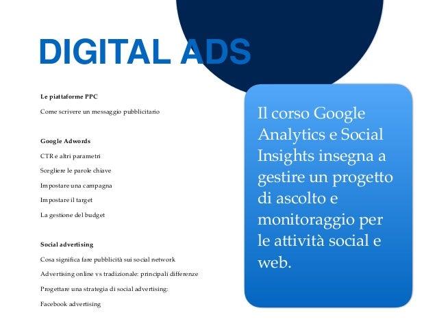 Le piattaforme PPC Come scrivere un messaggio pubblicitario Google Adwords CTR e altri parametri Scegliere le parole chiav...