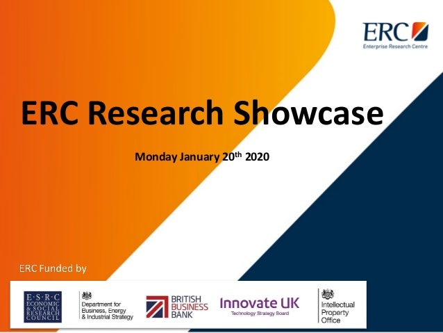 ERC Research Showcase Monday January 20th 2020