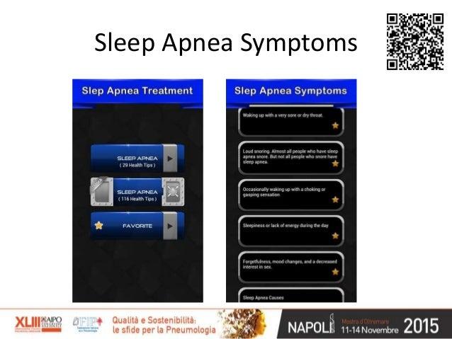 Le APP e i disturbi respiratori nel sonno: dove siamo