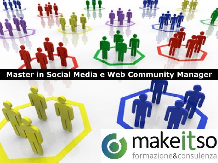 Master in Social Media e Web Community Manager
