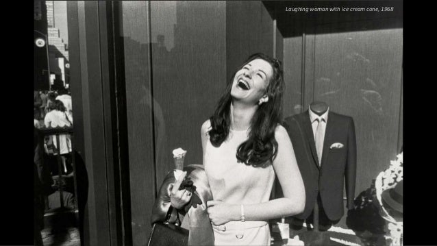 Laughing woman with ice cream cone, 1968