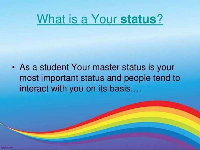 define master status in sociology