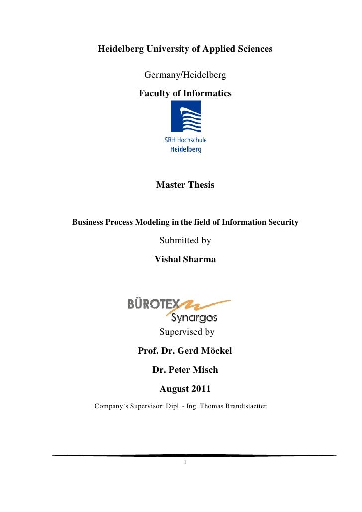 Master security thesis