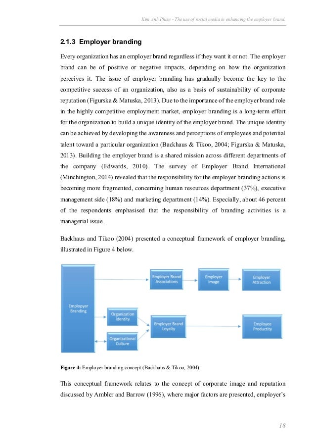 employer branding dissertation This is a two stage process the stages in this process are corporate identity,  loyalty towards employer brand, increased employee productivity, corporate  culture.