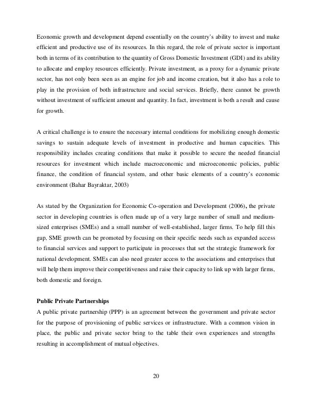 Importance of private sector development for poverty reduction economics essay