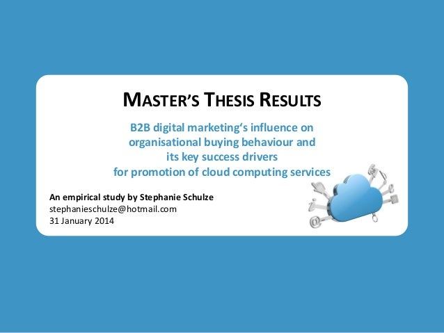 Master thesis pdf marketing strategy