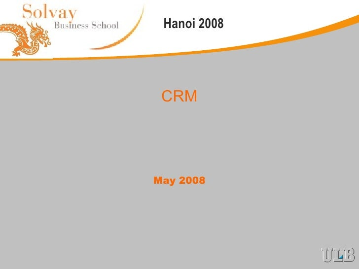 CRM May 2008