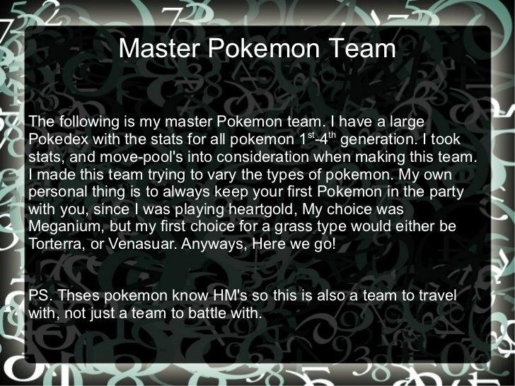 Best Pokemon Team (Non-legendary)