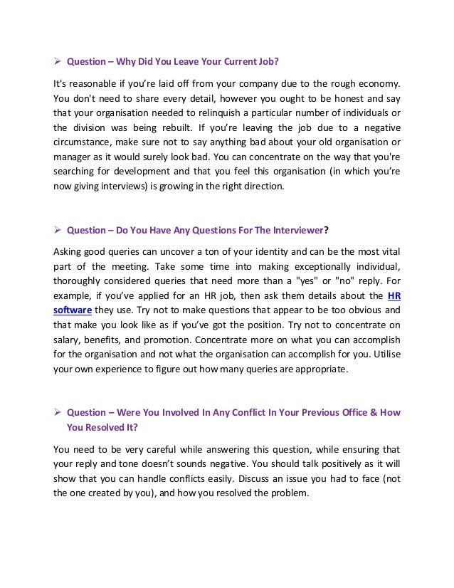 2 - Answering Job Interview Questions Part 2