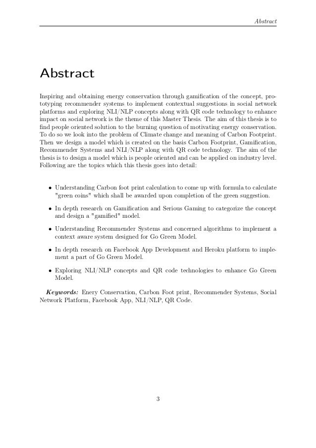 Latex master thesis abstracts