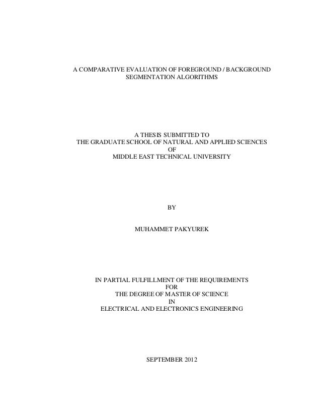 Master thesis in statistics