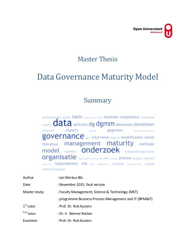 master thesis in data warehousing