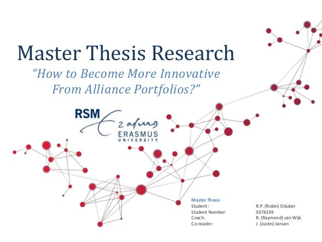 Master thesis on innovation