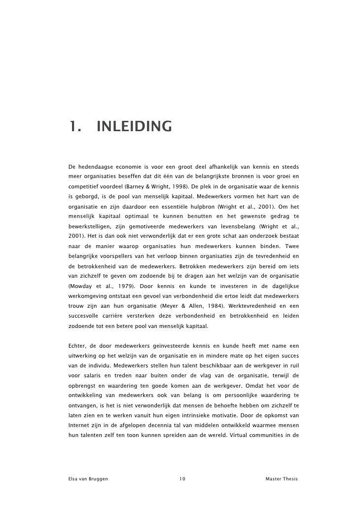 Hulp bij master thesis