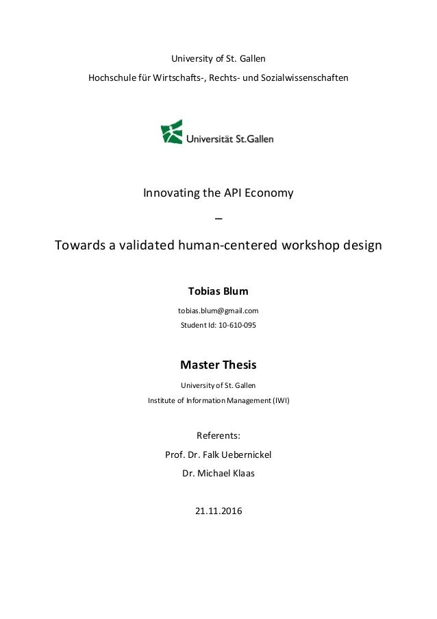 Master thesis human