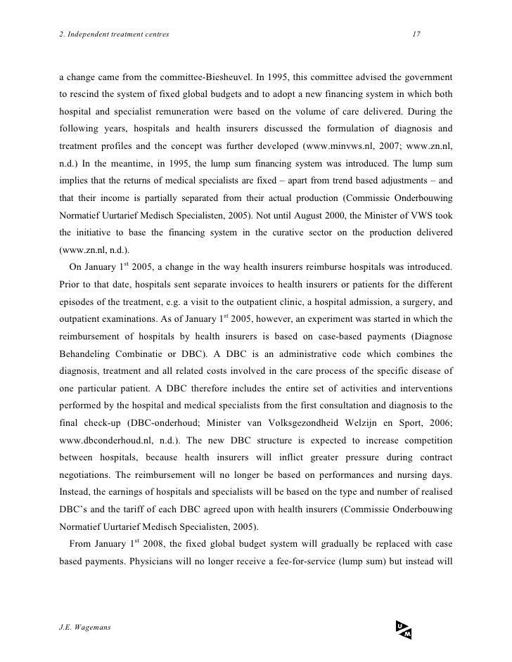 Master thesis health economics