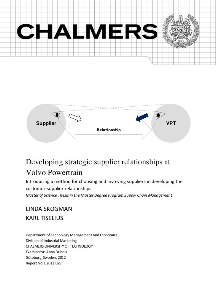 volvo gothenburg master thesis