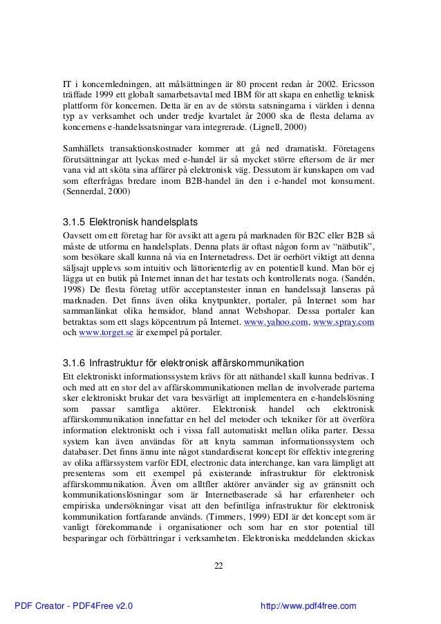 B2b master thesis