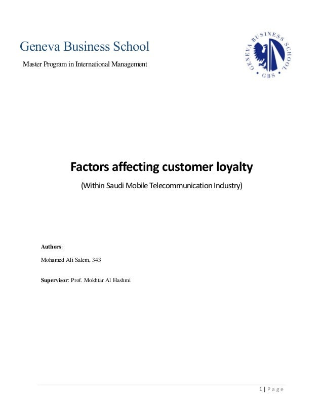 Master thesis customer service