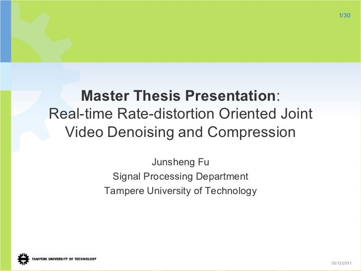Master Thesis/Project Report Format