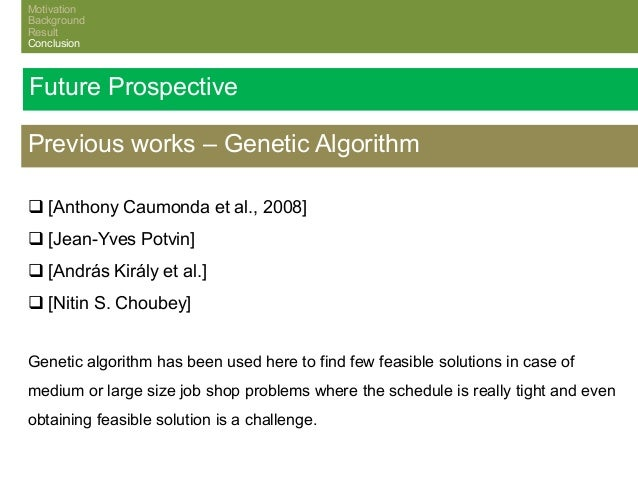 Master thesis genetic algorithm