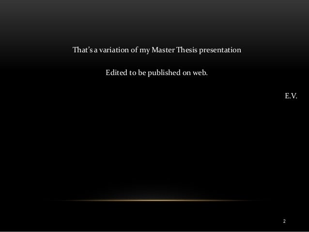 E government master thesis
