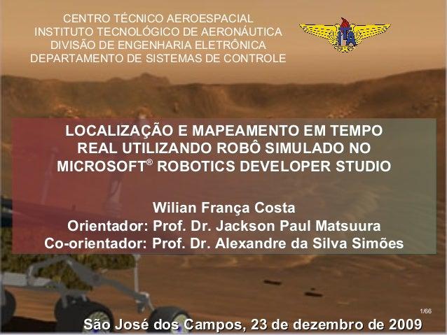 CENTRO TÉCNICO AEROESPACIALINSTITUTO TECNOLÓGICO DE AERONÁUTICA   DIVISÃO DE ENGENHARIA ELETRÔNICADEPARTAMENTO DE SISTEMAS...