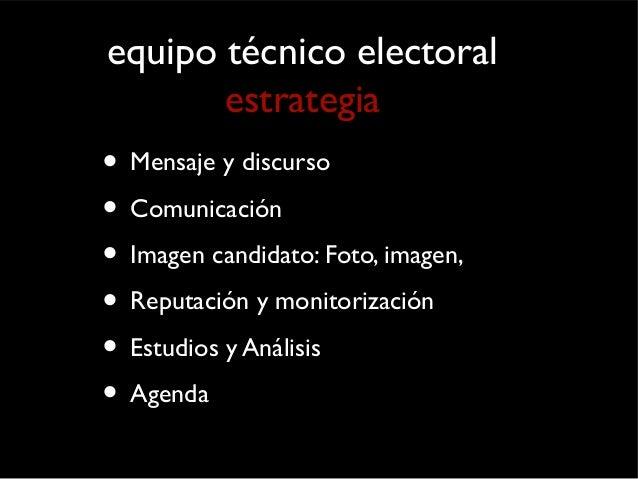 equipo político  organización  • Responsable político de organización y  programa  • Equipos de apoyo temáticos  • Equipos...