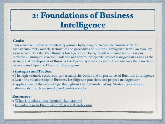 business intelligence papers thesis