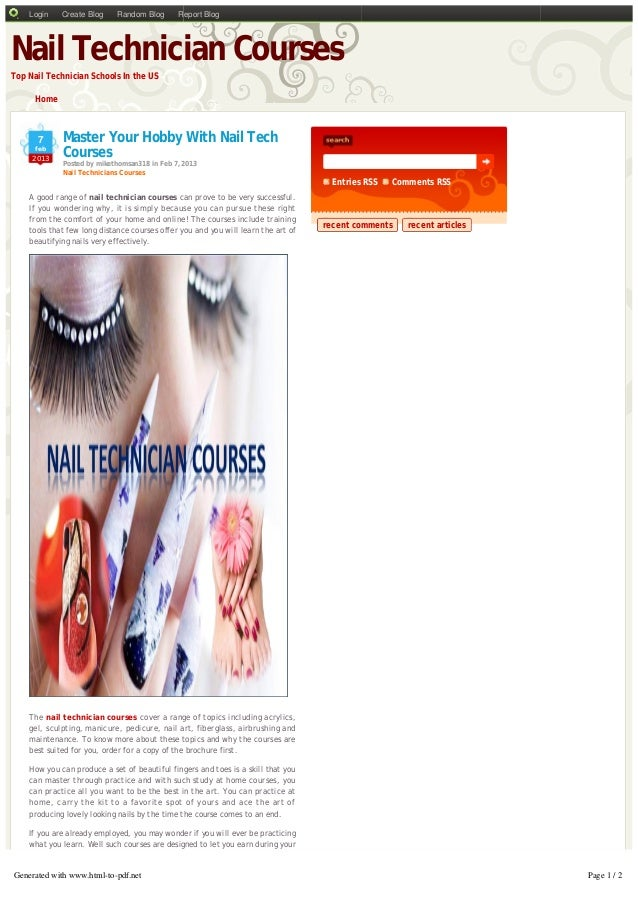 Master Your Hobby With Nail Tech Courses