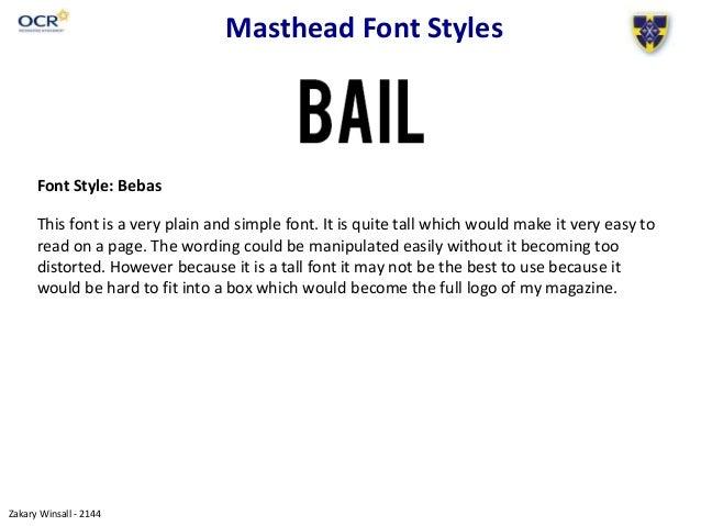2 Masthead Font Styles
