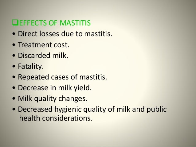 Mastitis in dairy cows a case study of public health ...