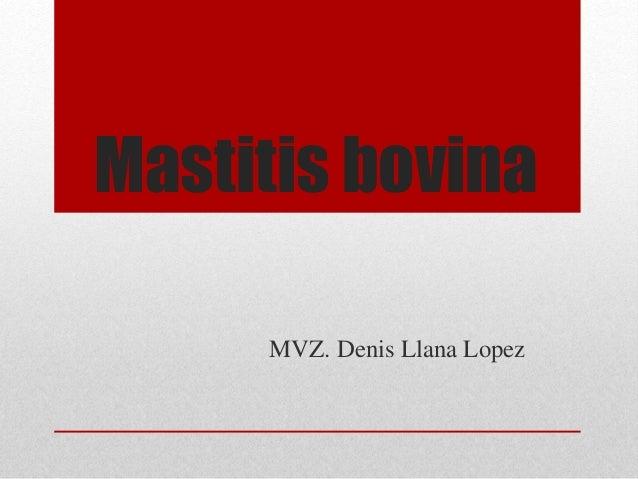 Mastitis bovina MVZ. Denis Llana Lopez