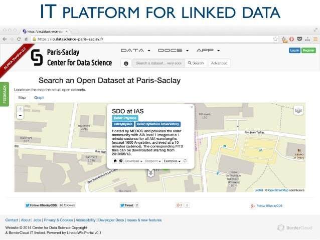 Center for Data Science Paris-Saclay IT PLATFORM FOR LINKED DATA 19