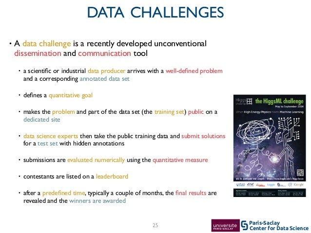 Center for Data Science Paris-Saclay • A data challenge is a recently developed unconventional dissemination and communica...