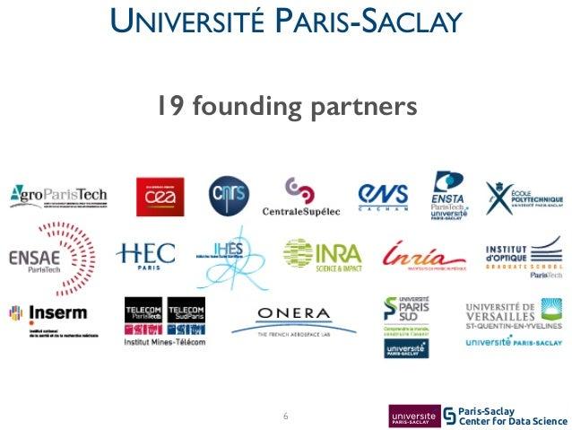 Center for Data Science Paris-Saclay6 UNIVERSITÉ PARIS-SACLAY 19 founding partners