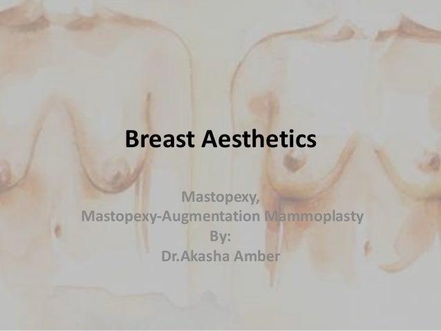 Breast Aesthetics Mastopexy, Mastopexy-Augmentation Mammoplasty By: Dr.Akasha Amber