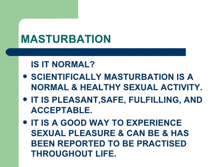is masturbation good or bad