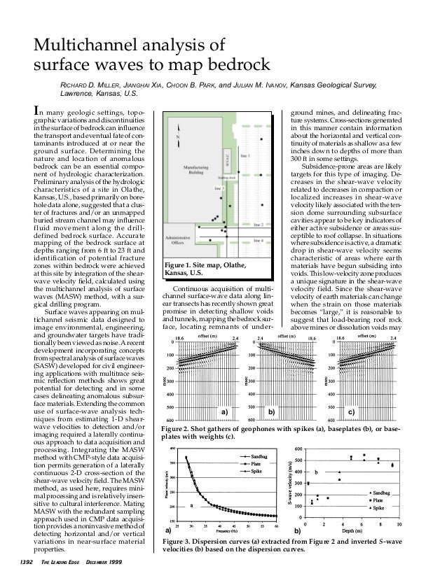 In many geologic settings, topo- graphic variations and discontinuities in the surface of bedrock can influence the transp...