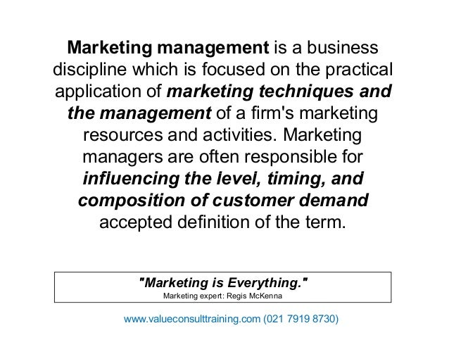 Marketing is everything regis mckenna