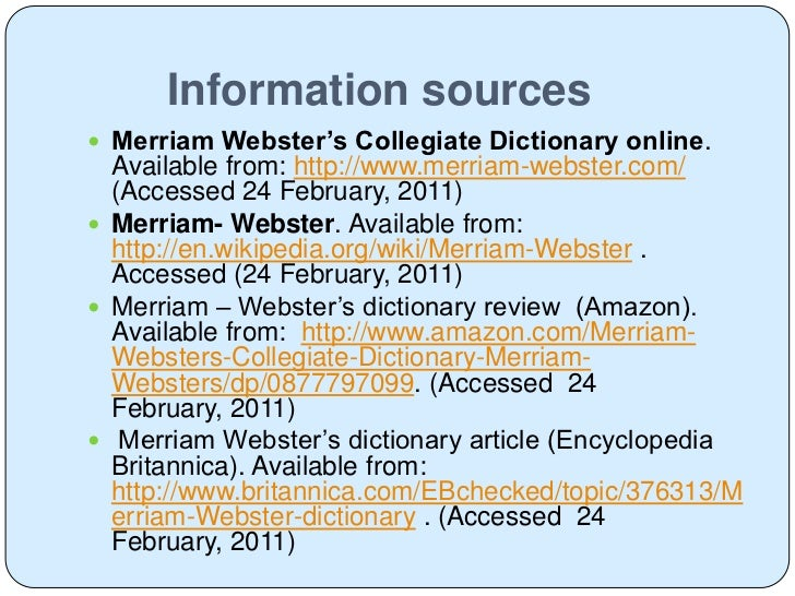 an analysis of the varied meanings of the merriam websters dictionary Merriam webster dictionary free download - get into pc merriam webster dictionary free download software setup in single direct link learn the meanings of.