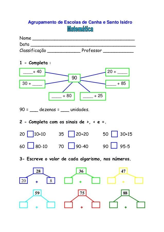 Agrupamento de Escolas de Canha e Santo Isidro Nome _____________________________________ Data ___________________________...