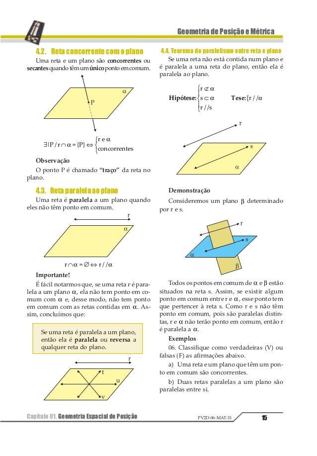 Geometria de Posição e Métrica - Teoria 052b3403abce