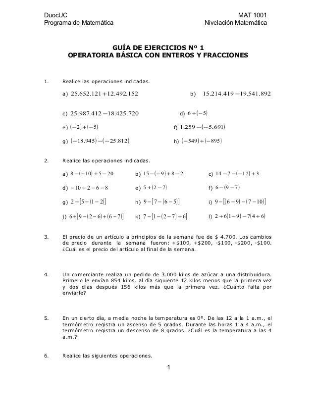 DuocUC                                                                                       MAT 1001Programa de Matemátic...