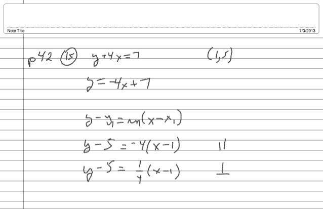 2013 NCC MAT111 Notes: Week I, Day 03 - Compositions and Quadratics!